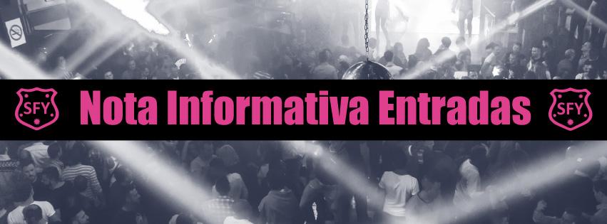 NOTA INFORMATIVA ENTRADAS